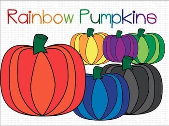 Rainbow Pumpkins {Freebie!}
