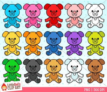 Rainbow Dogs Puppy Counter Clipart