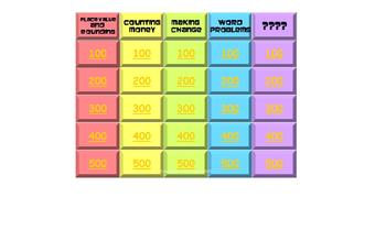 Rainbow QUIZZO: Place Value & Money