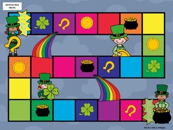 Sight Word Games - Rainbow Race