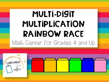 Rainbow Race- Multi-Digit Multiplication