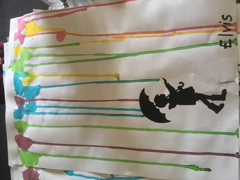 Rainbow Rain Art Template Freebie!! - For all ages! Looks fantastic
