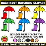 Rainbow Rain Boots Matching Clipart