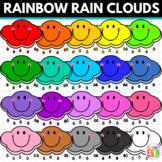 Rainbow Rain Clouds Clipart