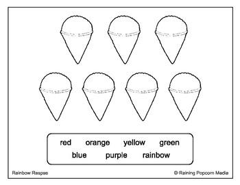 Rainbow Raspas Graphic Organizer