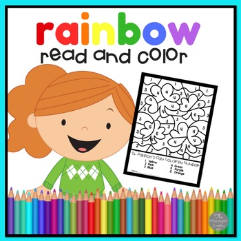 Rainbow Emergent Reader and Color Word Work