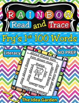 Rainbow Read and Trace - Fry's 1st 100 Sight Words