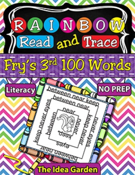 Rainbow Read and Trace - Fry's 3rd 100 Sight Words