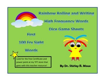 Rainbow Read and Write First 100 Fry High Frequency / Sight Words