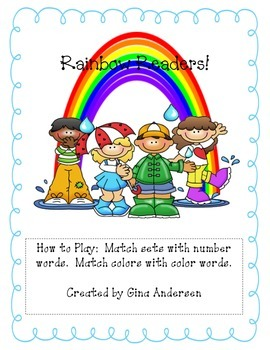 Rainbow Readers-Reading Number and Color Words