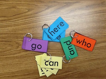 Rainbow Readers Sight Word Flash Cards, Games, & Bulletin Board Unit