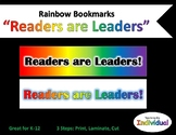 Rainbow Readers are Leaders Bookmarks
