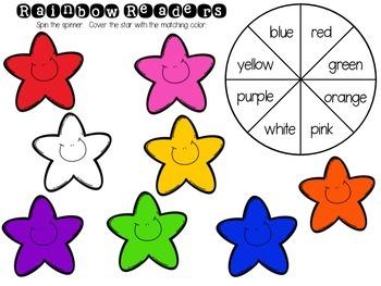 Rainbow Readers {color word freebie!}