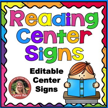 Rainbow Reading Center Signs