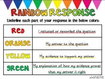 Rainbow Reading Response
