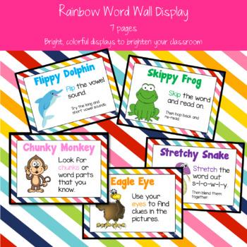 Rainbow Reading Strategies/ Decoding Posters