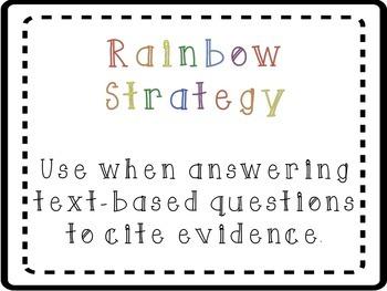 Rainbow Reading Strategy