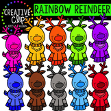 Rainbow Reindeer Clipart {Creative Clips Clipart}