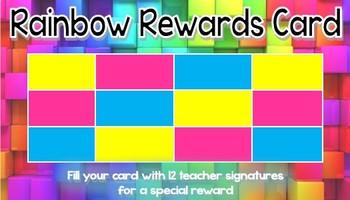 Rainbow Rewards Card - Colourful Rainbow Theme