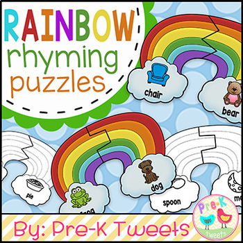 Rainbow Rhyming Puzzles