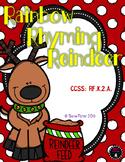 Rainbow Rhyming Reindeer Christmas File Folder Game Preschool Phonemic Awareness