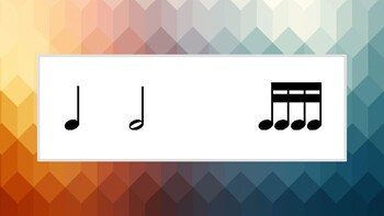 Rainbow Rhythm Flashcards: Half Note