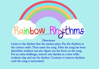 Rainbow Rhythms with Ta,Ti-ti & Rest