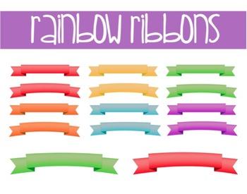 Rainbow Ribbons- Freebie