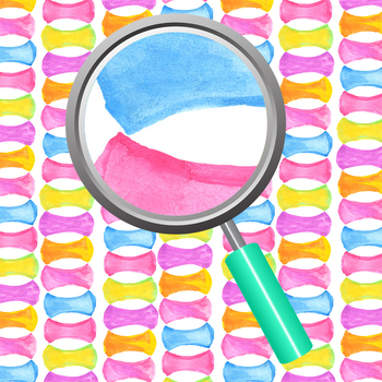 Rainbow Riddles Watercolor Digital Papers / Backgrounds Clip Art Set