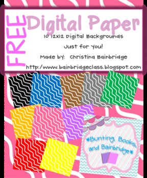 Rainbow Ripples Background Papers- Free!