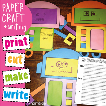 Rainbow Robot Craftivity - Print Cut Make Write