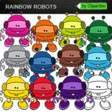 Rainbow Robots Clipart