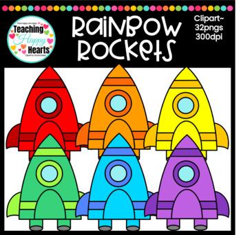 Rainbow Rockets Clipart