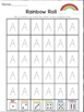 Rainbow Roll Alphabet Handwriting Worksheets Uppercase and Lowercase Bundle