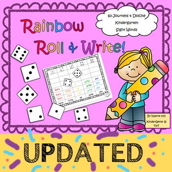 Rainbow Roll & Write Journeys & Dolch Sight Words Kindergarten