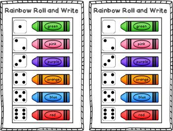 Rainbow Roll and Write {FREEBIE}