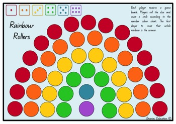 Rainbow Rollers Dice Game