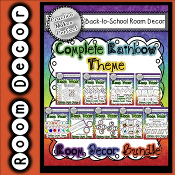 Rainbow Room Decor Complete Bundle