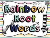 Rainbow Root Words: A Task Card Center