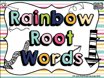 Rainbow Root Words: A Task Card Center