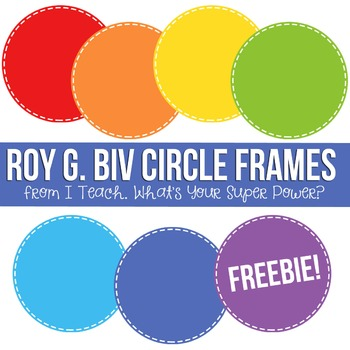 Rainbow Roy G Biv Digital Frames FREEBIE