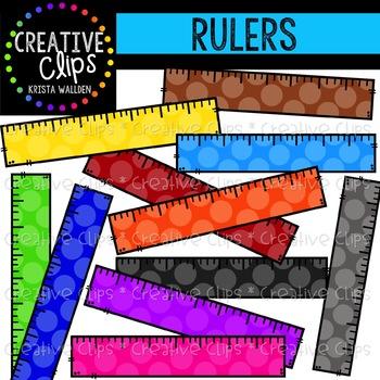 Rainbow Ruler Clipart {Creative Clips Clipart}