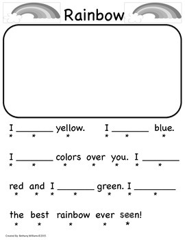 """Rainbow """"SEE"""" Poem"""