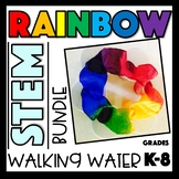 Rainbow STEM Bundle: Walking Water Experiment Grades K-8