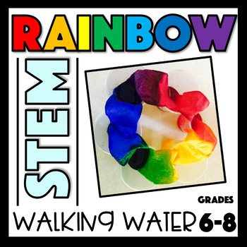 Rainbow STEM Capillary Action and Properties of Water Molecules Experiment