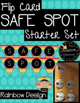 Rainbow Safe Spot/Safe Place Flip Card Set