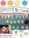 Rainbow Safe Spot Safe Place / Space Flip Cards Printable