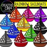 Rainbow Sailboats: Summer Clipart {Creative Clips Clipart}