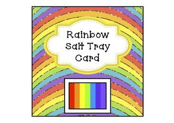 Freebie Rainbow Salt Tray Card