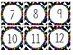 Rainbow Scalloped Calendar Pieces